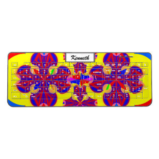 Heart Flowers by Kenneth Yoncich Wireless Keyboard