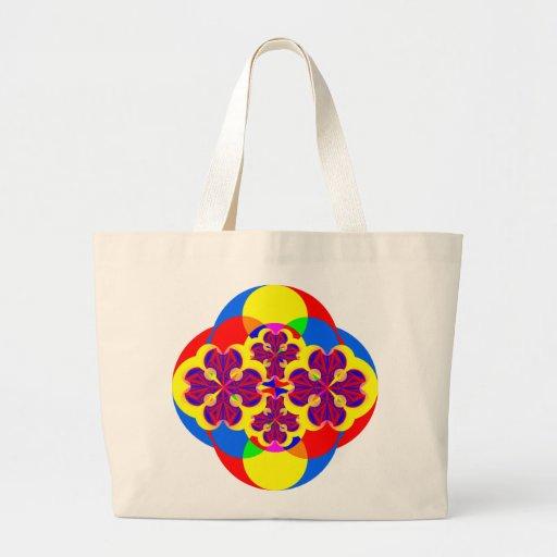 Heart Flowers Jumbo Tote Canvas Bags