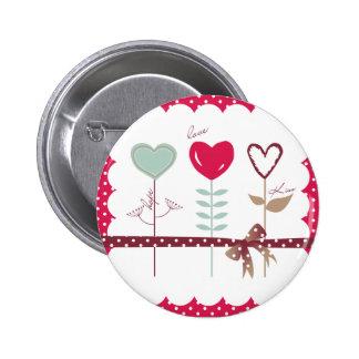 Heart Flowers - Love Hope Kisses 6 Cm Round Badge