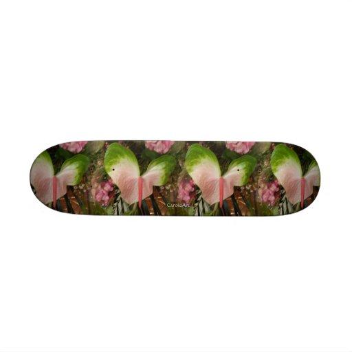 Heart Flowers Skateboard