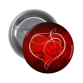 Heart for the St. Valentine's day - Pinback Buttons