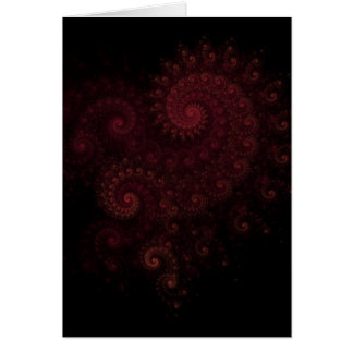 heart fractal card