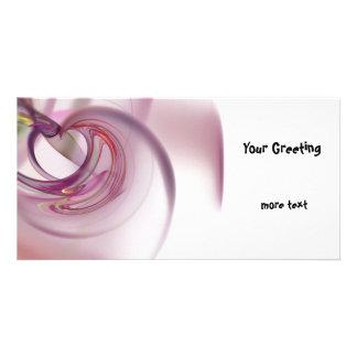 Heart Fractal Photo Greeting Card
