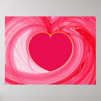 Heart Fractal Poster