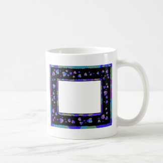 Heart Frame Black Blue Purple Template mug