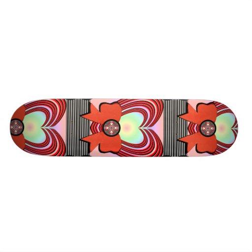 Heart Frame Ribbon Big Skate Deck