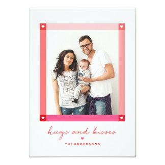Heart frame Valentine's day photo card 13 Cm X 18 Cm Invitation Card