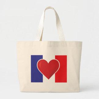 Heart France Flag Bags