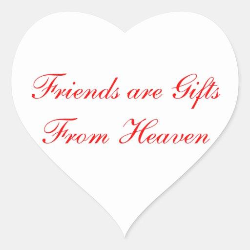 Heart Friendship Greeting Sticker Label
