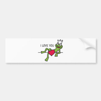 heart frog bumper sticker