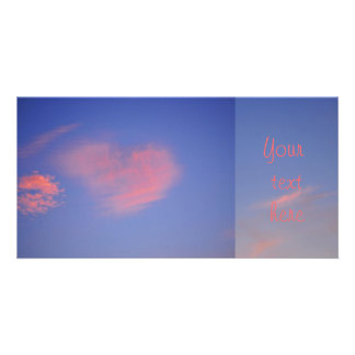 Heart from clouds - photomap photo greeting card