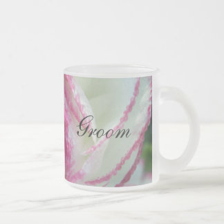 Heart Frosted Glass Coffee Mug