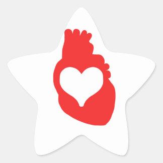 Heart full of Love Star Sticker