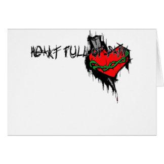 Heart Full Of Pain Card