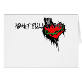 Heart Full Of Pain Greeting Card