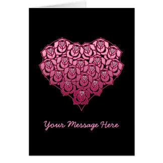 Heart Full of Roses Design Card