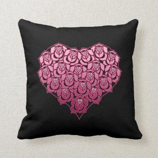 Heart Full of Roses Design Pillow