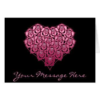 Heart Full of Roses Design Greeting Card