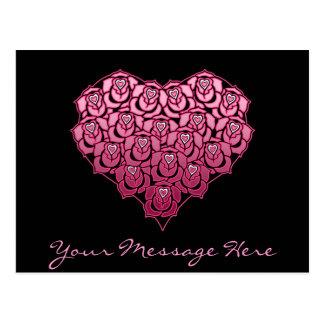 Heart Full of Roses Design Postcard
