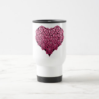 Heart Full of Roses Design Travel Mug