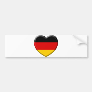 Heart German flag I like Germany Bumper Sticker