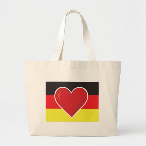 Heart Germany Flag Tote Bag