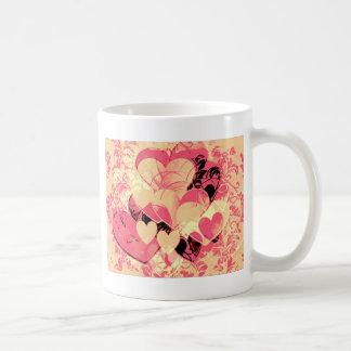 Heart Gifts | Bunch Of Pink Hearts Basic White Mug