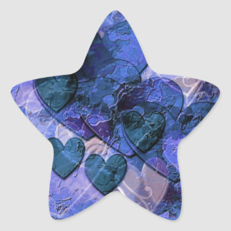 Heart Gifts For Him in Blue Star Sticker