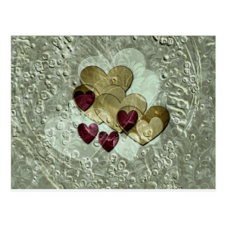 Heart Gifts | Gold and Ruby Postcard