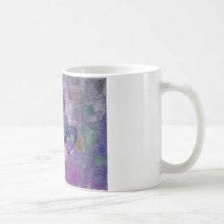 Heart Gifts | Purple and Green Basic White Mug