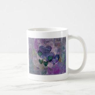 Heart Gifts | Purple and Green Coffee Mug