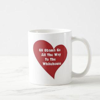 heart_GO Obama GO To The Whitehouse Classic White Coffee Mug