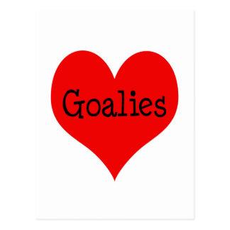 Heart Goalies Postcard