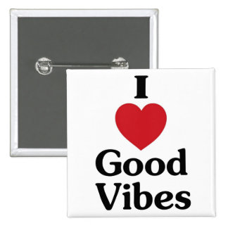 Heart good vibes simple love souvenir button
