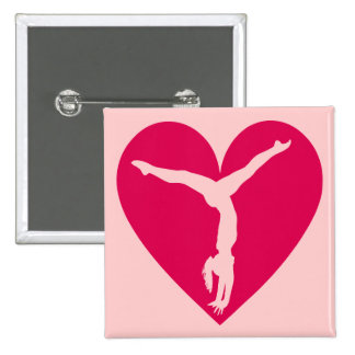 Heart Gymnast 15 Cm Square Badge