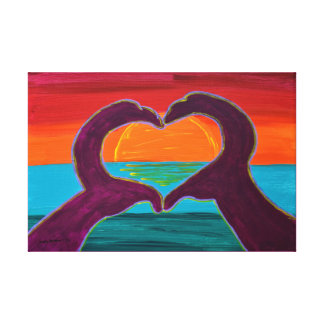 Heart Hands Joel Anderson Wrapped Canvas
