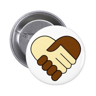 Heart handshake button