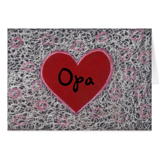 Heart, Happy Father's Day Opa Cards