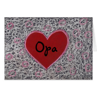 Heart, Happy Father's Day Opa Greeting Card