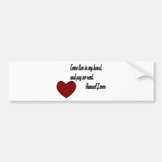 Heart/Happy Valentine's Day Bumper Sticker