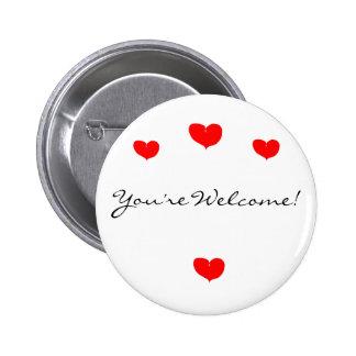 Heart Heart Heart Heart You re Welcome Button