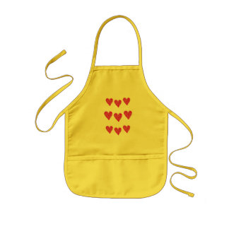 heart, heart, heart kids apron