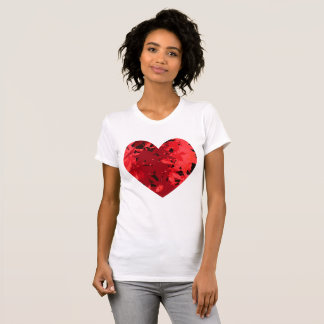 Heart heart Japanese maple T-Shirt