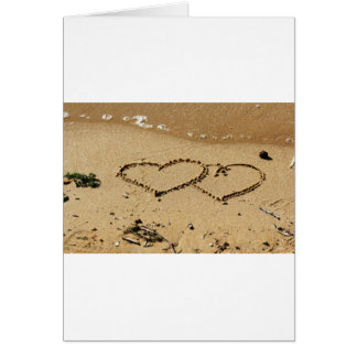 Heart Hearts love custom personalize Anniversaries Card