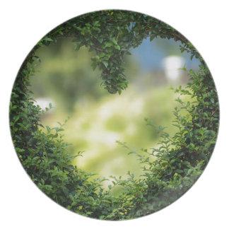 Heart Herzchen Love Romance Luck Valentine's Day Plate