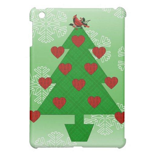 Heart Holiday Tree iPad Mini Cases