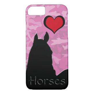 Heart Horse I (pink camo) iPhone 8/7 Case