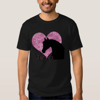 Heart Horse (pink camo) T Shirts