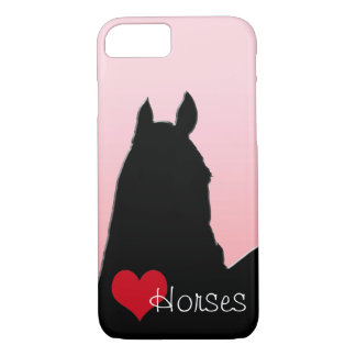Heart Horses I (faded pink) iPhone 7 Case