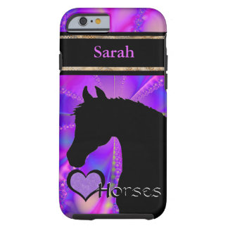 Heart Horses III Customisable (Fractal 100) Tough iPhone 6 Case